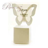 Chair Box - Butterfly - Crystal Perle Metallic Arctic White