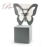 Chair Box - Butterfly - Crystal Perle Metallic Steele Silver