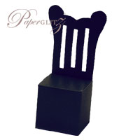 Chair Box - Throne - Crystal Perle Metallic Licorice Black
