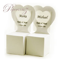 Chair Box - Heart - Crystal Perle Metallic Arctic White