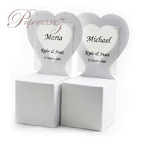 Chair Box - Heart - Crystal Perle Metallic Diamond White