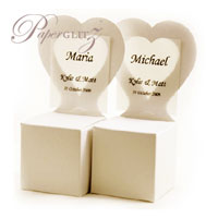 Chair Box - Heart - Crystal Perle Metallic Sandstone