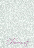 Handmade Embossed Paper - Pebbles Baby Blue Pearl Full Sheet (56x76cm)