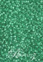 Handmade Embossed Paper - Pebbles Emerald Green Pearl Full Sheet (56x76cm)