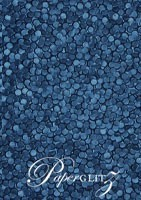 Handmade Embossed Paper - Pebbles Peacock Navy Blue Pearl A4 Sheets