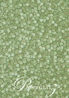 Handmade Embossed Paper - Pebbles Sea Green Pearl A4 Sheets