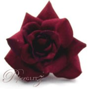 Velvet Mini Roses - Red - 9Pck