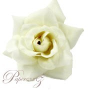 Velvet Mini Roses - White - 9Pck