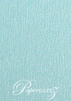 14.85cm Square Scored Folding Card - Rives Ice Blue