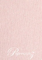 120x175mm Scored Folding Card - Rives Ice Pink