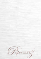 A5 Flat Card - Semi Gloss White Lumina