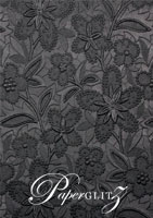 Handmade Embossed Paper - Spring Black Pearl A4 Sheets