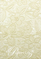 Glamour Pocket 150mm Square - Embossed Spring Ivory Pearl
