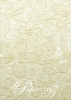 Glamour Pocket DL - Embossed Spring Ivory Pearl