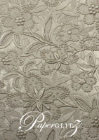 Glamour Pocket 150mm Square - Embossed Spring Pewter Pearl