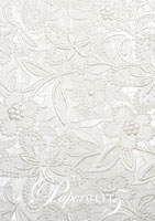 Handmade Embossed Paper - Spring White Pearl A4 Sheets