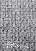 Handmade Embossed Paper - Thunder Brushed Midnight Pearl A4 Sheets