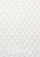 Handmade Embossed Paper - Thunder White Pearl A4 Sheets