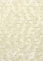 Handmade Embossed Paper - Trident Ivory Full Sheet (52x76cm)