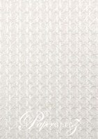 Glamour Pocket 150mm Square - Embossed Wicker White Pearl