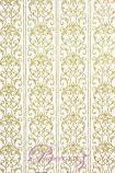 Handmade Chiffon Paper - Damask White & Gold Glitter Full Sheets (56x76cm)
