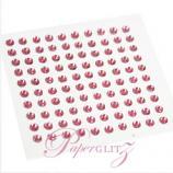 Self-Adhesive Diamantes - 3mm Round Rose Pink - Sheet of 100