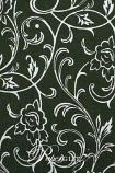 Handmade Chiffon Paper - Olivia Fern Green & Silver Foil Full Sheets (52x76cm) - 36 Sheet Special