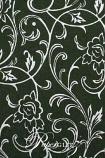 Handmade Chiffon Paper - Olivia Fern Green & Silver Foil A4 Sheets