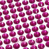 Self-Adhesive Diamantes - 6mm Round Fuchsia - Sheet of 100