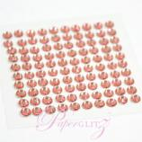 Self-Adhesive Diamantes - 4mm Round Rose Pink - Sheet of 100