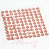Self-Adhesive Diamantes - 4mm Round Rose Pink - Sheet of 100
