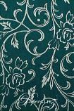 Handmade Chiffon Paper - Olivia Jade Green & Silver Foil Full Sheets (52x76cm)