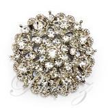 Brooch - Diamante Crown - Small