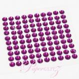 Self-Adhesive Diamantes - 4mm Round Violet - Sheet of 100