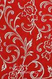 Handmade Chiffon Paper - Olivia Red & Silver Foil A4 Sheets