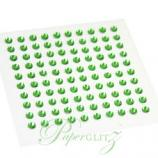 Self-Adhesive Diamantes - 3mm Round Lime Green - Sheet of 100