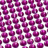 Self-Adhesive Diamantes - 6mm Round Violet - Sheet of 100