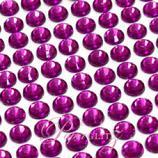 Self-Adhesive Diamantes - 6mm Round Violet - Sheet of 100