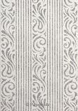 Handmade Glitter Print Paper - Serenity White Pearl & Silver Glitter A4 Sheets