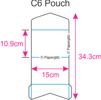 Dimensions Paperglitz DIY C6 Pouch Pocket Fold