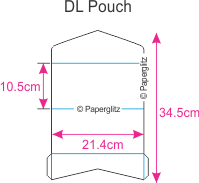 Dimensions Paperglitz DIY DL Pouch Pocket Fold